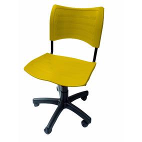 Cadeira Giratória Plastica Tipo Iso Secretaria Varias Cores