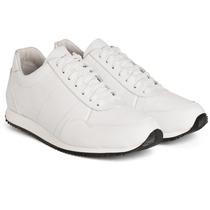 Zapatillas De Cuero Blancas Sneakers Vesna / Zorzaldelvaga
