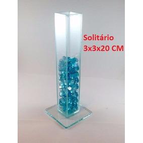 Kit 20 Vasos Solitário Para Festa 20 Cm Altura Transparente