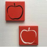 Cuadro Manzanas Arte Moderno Contemporaneo Pintado A Mano