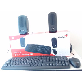 Kit Teclado+mouse+parlantes - Genius Kms U110 Ps2 - Labtops