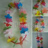 Collares Hawaiano De Tela Fiestas (venta Por Docena) X 12u