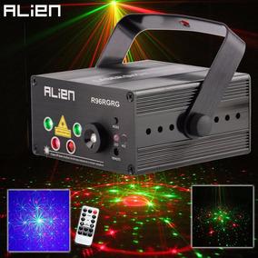 Laser Show 3d 250 Mw Rgb + Led Azul 3 Wts Sensor Som