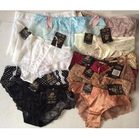 Lote De 14 Panties Surtidas Encaje Y Tipo Seda Panty Luk