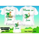 Kit Familia Camisetas Tal Pai, Mãe E Filho Peter Pan C3