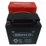 Bateria De Moto Bronco 12n9-4b-1 Gel Rouser Custom Cuadris