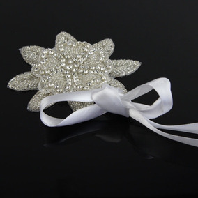 Tiara Cinto Branco Cetim Flor Cristais Strass Noiva 15 Anos
