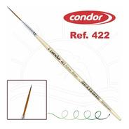 Kit 3 X Pincel Condor Konex Liner Sintetico 422 - 000; 00; 0