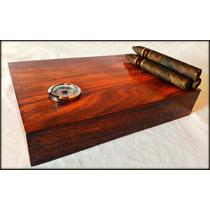 Humidor Cigarrera. Cedro Macizo. Sistema Único