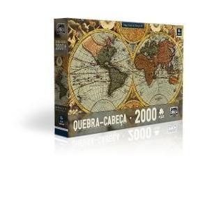 Quebra Cabeça - Mapa Mundi Seculo Xvii - Com 2000 Peças