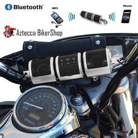 Bocinas Bluetooth Sd Aux Fm Para Motocicleta Honda Yamaha