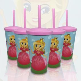 Kit 50 Copos Infantis Princesa Principe Circo Unicornio