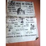 Volante Programa Circo Real De Sevilla Ver Foto