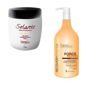 Argan Oil Selante Termico E Shampoo Restaurador Force Repair