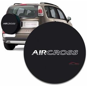 Capa Proteção Estepe Aircross 2010 E 2014 Com Cadeado Preta