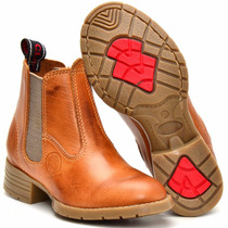 Bota Country Infantil Masculina Kids Texana Couro Legitimo