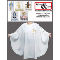 Veste (bata / Opa) Leitor / Ministro (bordado Personalizado)