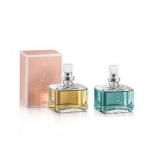 Novo Kit Perfumes Feminino Jequiti Eliana + Glamour, 2x 25ml