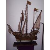 Barco Antiguo De Madera - Replica Carabela Española - Unica!