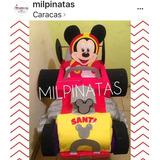 Piñata Carro Mickey Sobre Ruedas,carrito De Minnie