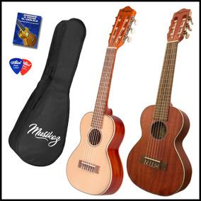 Guitarra De Viaje Guitarlele Bamboo 6 Cuerdas + Funda + Púas