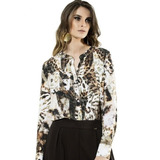 Camisa Principessa Luanna Em Seda Luxo Total + Brinde Uauuu