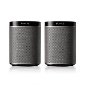 Dos Bocinas Inalámbricas Wifi Sonos Play1 + Soportes A Muro