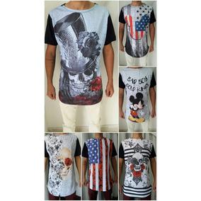 f96b6482161f2 Camiseta Long Line Lisa Atacado - Camisetas Manga Curta para ...