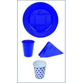 Vasos Platos Plasticos Servilletas Descartables Cumpleaños