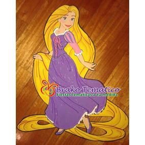 Princesas Rapunzel Figuras Goma Eva Cumpleaños Temáticos
