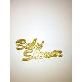Topper Dorado Para Baby Shower En Plastico