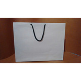 Bolsas De Papel Kraf Blanco 110g G2 Med 16x25x8