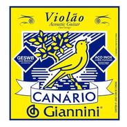 Encordoamento Violão Aço Canário Giannini C/ Bolinha Nfiscal