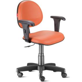 Cadeira Escritório Laranja Com Braços Executiva