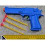 Pistola 9mm Arma 22cm Mola Pressão Atira Dardos Revolver