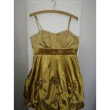 Vestido Dourado Balone Festa