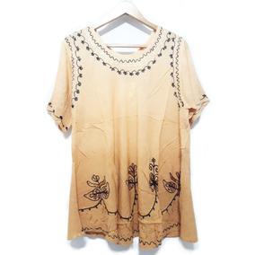 Blusas / Camisola Hindú Mujer Bordadas Talles Grandes