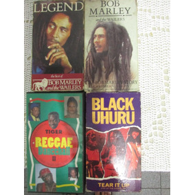 Lote 4 Fitas Vhs Reggae Bob Marley -black Uhuru