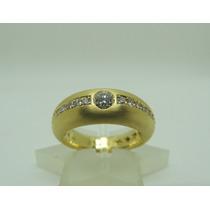 Glitter H.stern Anel Solitário Ouro E 78 Pontos De Diamantes