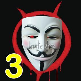 3 Mascara Economica V De Venganza Vendetta Anonymous Disfraz