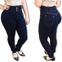 Calça Jeans Feminina Hot Pants Cintura Alta Cós Alto C Lycra