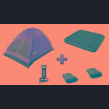 Combo Camping Carpa Igloo 2 Pers + Colchon 2p + Inflad + Alm