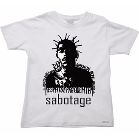Camisa, Camiseta Sabotage, Blusa Rap Nacional