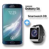 Samsung Galaxy S6 4g Lte + Smartwatch Bt D9 + 12 Cuotas