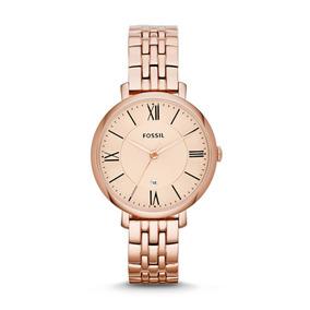 Reloj Mujer Fossil Jacqueline De Acero Oro Rosa