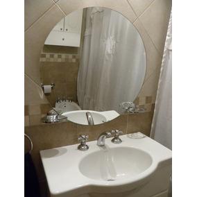 espejo redondo cm para decorar bao dormitorio living
