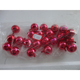 #18757 - Natal - 24 Bolinhas Vidro Rosa E Vermelha!!!