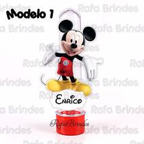 50 Tubetes 3d Personalizados Turma Do Mickey Mouse - Casa