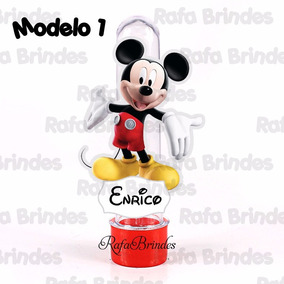 50 Tubetes 3d Personalizados Turma Do Mickey Mouse - Casa