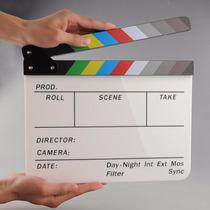 Claquete Profissional Acrilico Film Video Estudio Cinema P22